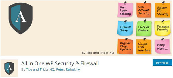 All In One WP Security Firewall Backup
